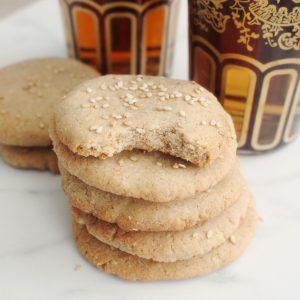 organic spoon moroccan halva tahini cardamom cookies